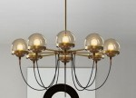Shining Ball Brass Large żyrandol 100cm styl Art Deco