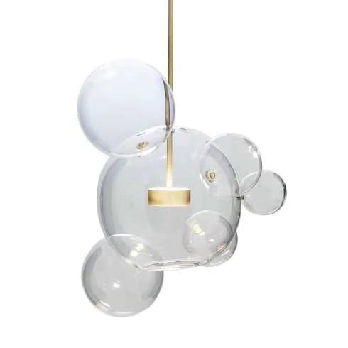 Mamun 6 Lampa Wisząca Połączone Szklane Kule