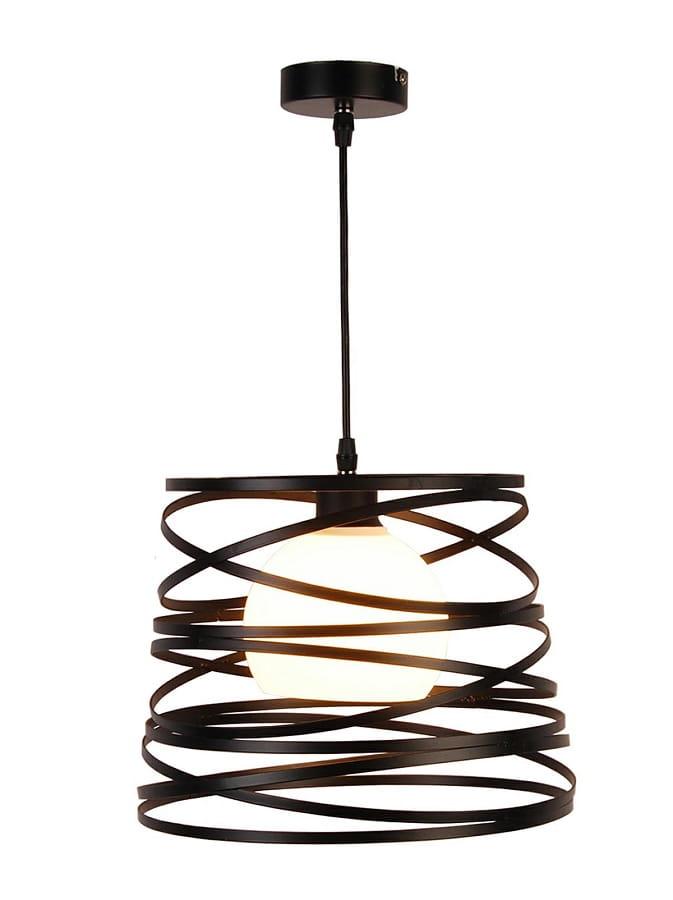 Akita ażurowa lampa wisząca czarna