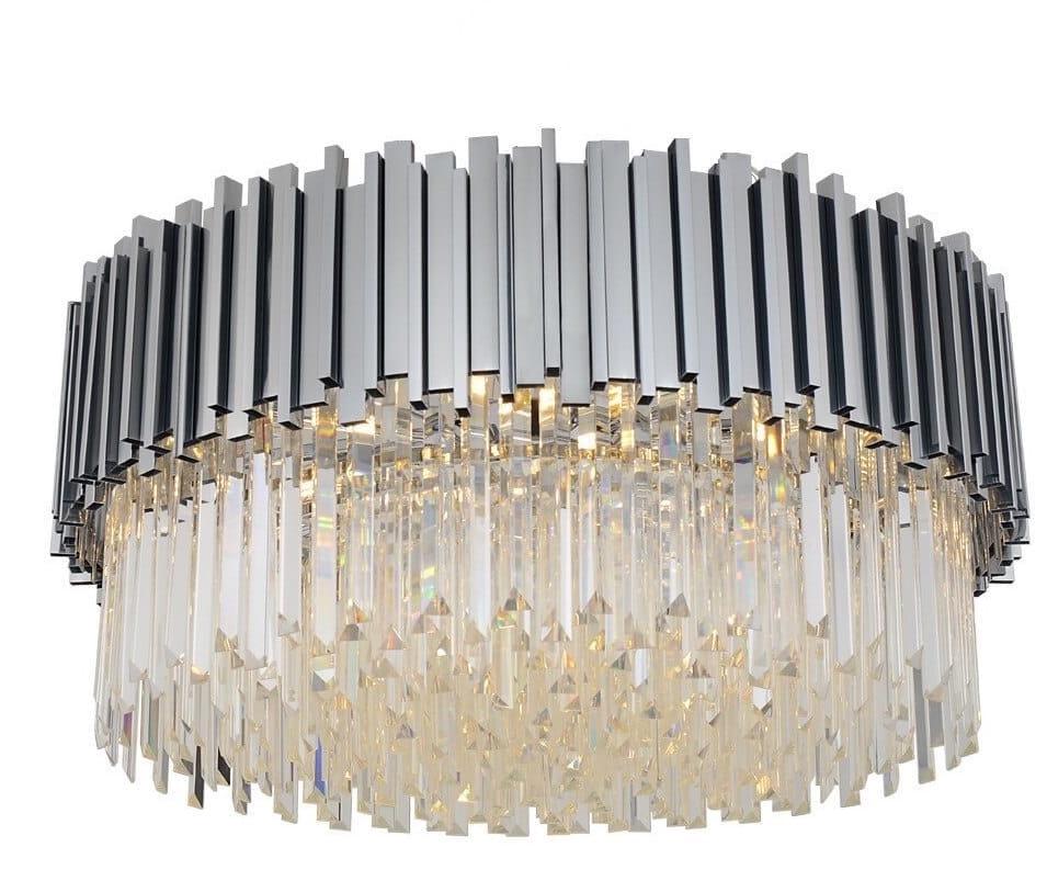Illuminating Chrom Plafon 45 – kryształowy plafon 45cm
