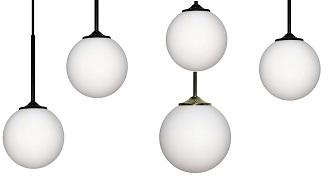 lampy wiszące okrągłe białe